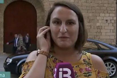 """Reportera de la independentista televisión balear rompe a llorar acongojada por los """"españoles"""""""