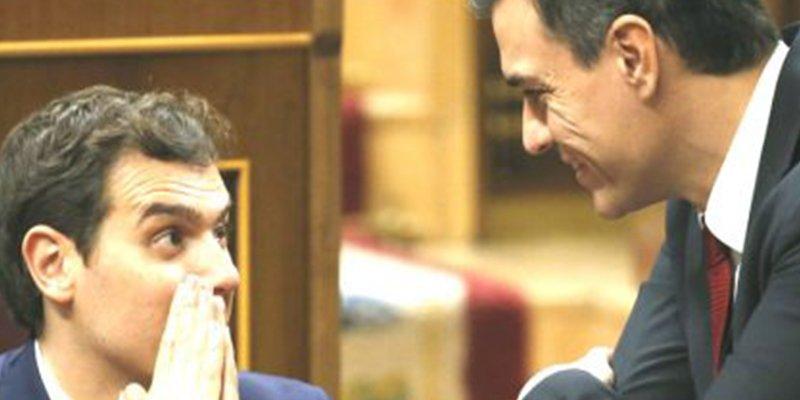 """""""El caballo de Troya"""" del independentismo: Rivera insta a Sánchez a no entrar en el debate del referéndum"""