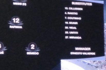 Este es el rótulo de TVE antes del Sevilla-Barça que indigna a muchos españoles