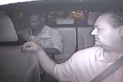 Este tipo estrangula y roba a un taxista, pero queda todo grabado