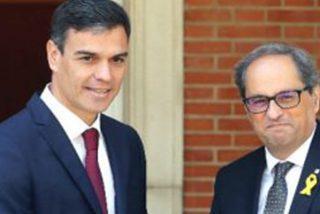 El 'okupa' Sánchez todavía no se ha enterado de que el xenofobo Torra es un peligro para la democracia