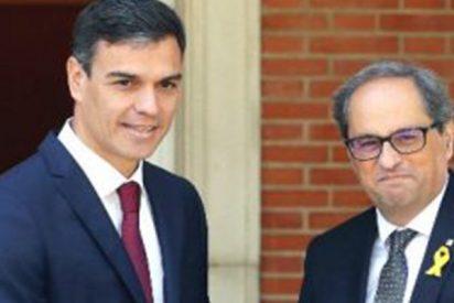 """El fanático Quim Torra 'escupe' en la mano que le tiende el socialista Pedro Sánchez: """"Tenemos que atacar al Estado español"""""""