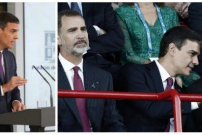 La última patochada del vanidoso Sánchez: darse un desvergonzado autobombo y meter al Rey en un lío
