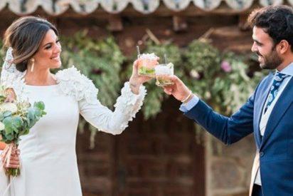 Silvia de Benito luce un precioso vestido con velo del año 1840 en su boda