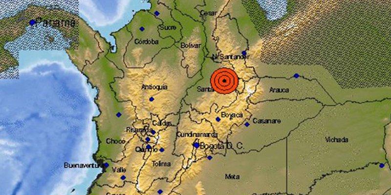 Un sismo de magnitud 5,8 sacude Colombia