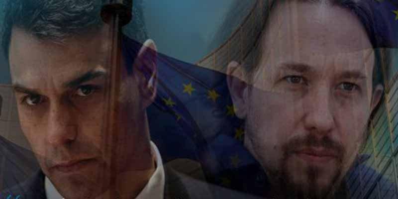 El 'okupa' Pedro Sánchez nos lleva a la ruina de la mano de Pablo Iglesias
