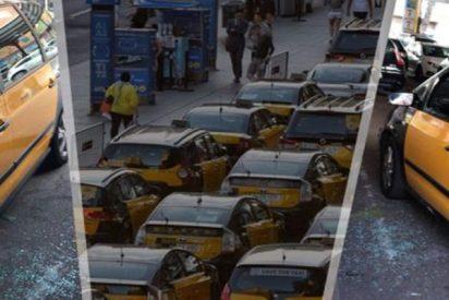 """Las primeras investigaciones policiales indican que los taxistas de Barcelona se """"autoagredieron"""""""