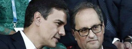 Sánchez ofrece a Torra cambiar la Constitución España e incluir la 'identidad catalana'