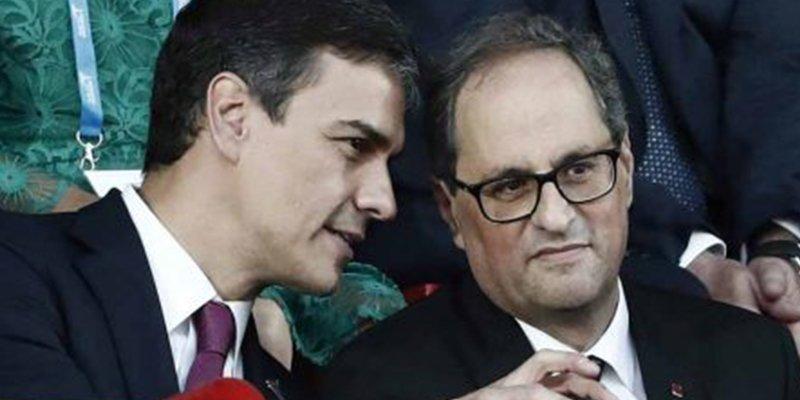 Mientras Sánchez los mima, los independentistas sacan una ley con multas de 600.000 € a quienes quiten lazos amarillos