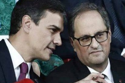 El 'okupa' Pedro Sánchez legitima a los independentistas catalanes que quieren romper España
