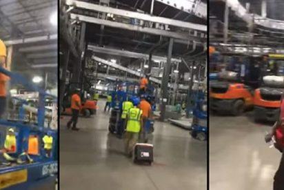 Despiden a estos trabajadores sudamericanos y el resto de compañeros abandona la obra en solidaridad