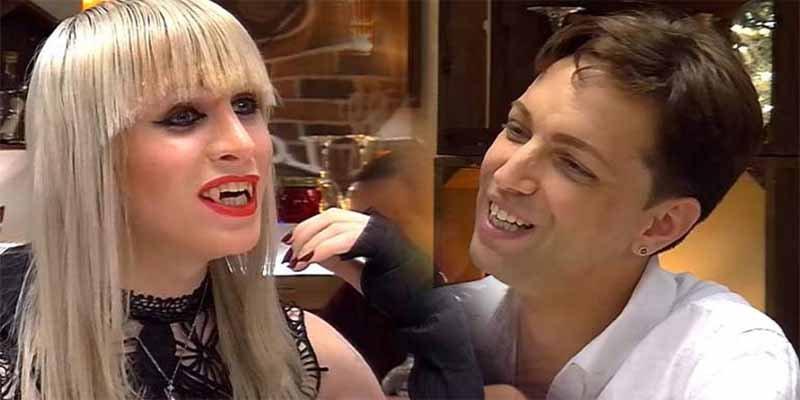'First Dates': El tipo quería perder la virginidad y casi se lo merienda una vampiresa trans