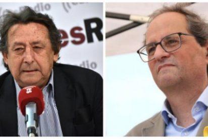 "Alfonso Ussía replica a la pedorreta que Torra le dedicó a Felipe VI: ""Eres un paleto aldeano"""