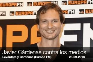 "Javier Cárdenas estalla contra los medios mentirosos e interesados: ""'Rectificad, da asco, ¡coño!"""