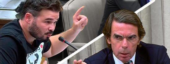 Aznar VS Rufián: Espectacular refriega en el Congreso