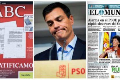 """ABC le baja la chulería a Pedro Sánchez y reitera que su tesis es un plagio: """"Sus amenazas no disuelven la verdad"""""""