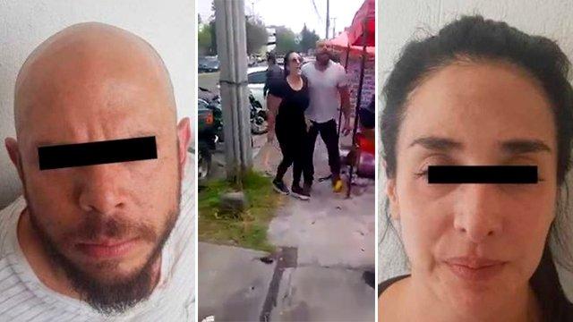 Graban a los dueños de un restaurante de México dando una brutal paliza a un vendedor