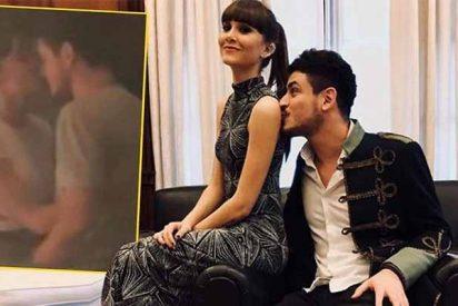Pillan a Aitana y Cepeda besándose como dos tórtolos en la noche madrileña