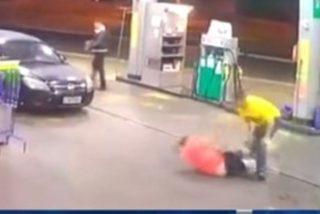 Brasil: Asi asesinan puñaladas a un conductor, por una simple discusión en la gasolinera