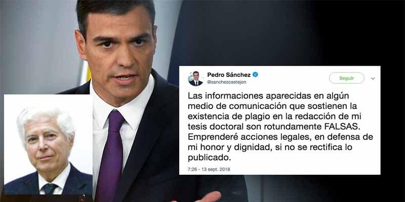 """Presidente de la Academia de Doctores: """"Hay motivos para retirarle el título a Pedro Sánchez"""""""