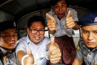 Birmania condena a 7 años de cárcel a dos periodistas de la agencia Reuters