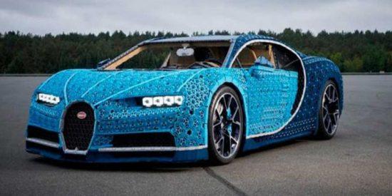 Este Bugatti Chiron hecho con un millón de piezas de LEGO funciona de verdad