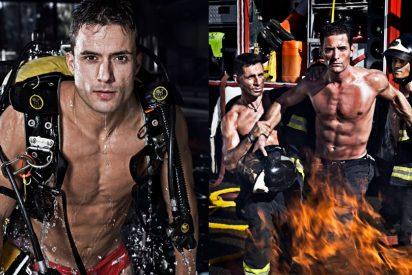 Podemos censura un calendario solidario de bomberos desnudos para que no sufran las mujeres