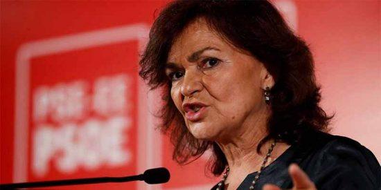 La vicepresidenta Carmen Calvo también quiere libres a los golpistas catalanes