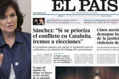 El País de Gallego-Díaz salva el culo a la dictadora Carmen Calvo y da categoría de breve al chanchullo fiscal de Pedro Duque