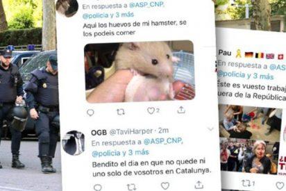 """Asquerosa campaña independentista de acoso a los policías enviados a Cataluña: """"¡Ratas, ya vais finos de coca!"""""""
