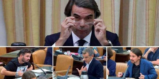 La tremenda tunda de Aznar a Rufián, Cantó e Iglesias revitaliza su figura ante las bases del PP
