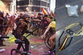 Los 'pacíficos' de los CDR se arman para sembrar el pánico en Barcelona el 1-O