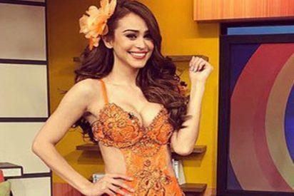 Así apoya esta 'chica del tiempo' a la selección de México