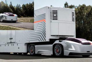 Así es el coche eléctrico y autónomo de Volvo que remolcará a los camiones del futuro