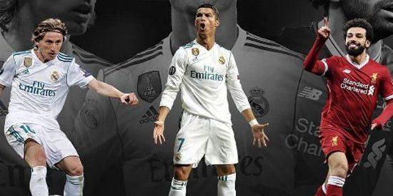 Los nominados para The Best al mejor jugador son: Cristiano, Modric y Salah