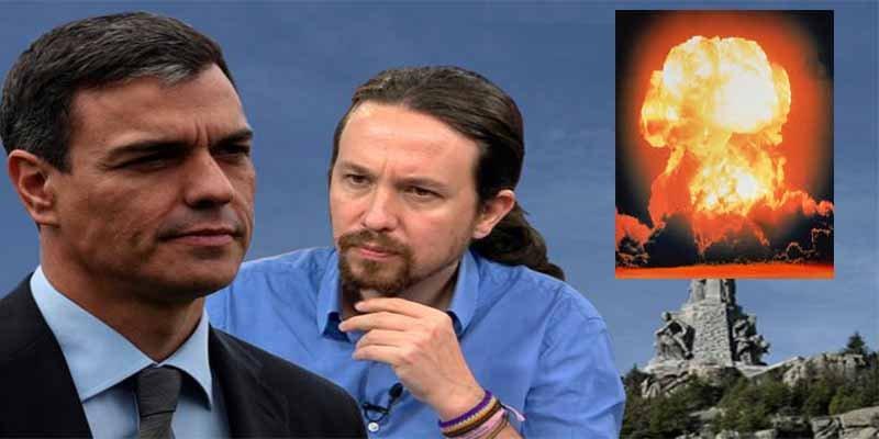 Pablo Iglesias presiona a Pedro Sánchez para dinamitar la Cruz del Valle los Caídos