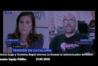 Gloria Lago y Cristina Segui cierran el pico al adoctrinador de niños catalanes