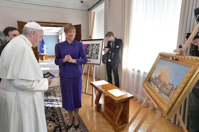 El Papa, 'residente digital' en Estonia