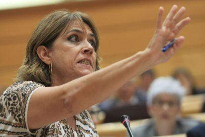 Los malos humos de la ministra Delgado en el Senado durante su incineración política