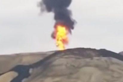 Así entra en erupción uno de los volcanes de lodo más grandes del mundo