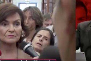 El 'vicepresidente' Ferreras se cabrea como una mona con Carmen Calvo por no defender a Sánchez con la premura que él quería