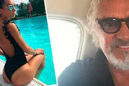 Flavio Briatore presume de su joven nueva novia modelo