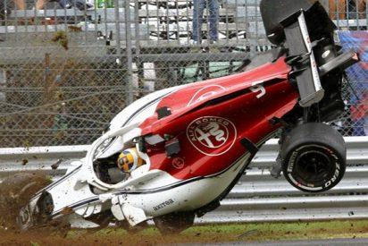Este piloto de Fórmula 1 sale despedido tras volcar a 350 km/h