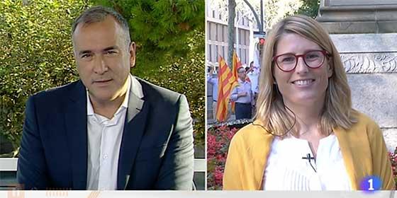 Fortes hace de TVE una copia zafia de TV3: entrevista-masaje a Elsa Artadi y sumisión absoluta a los postulados de los separatistas