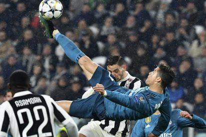Este golazo de tijera de Cristiano Ronaldo contra la Juventus considerado el mejor de la temporada