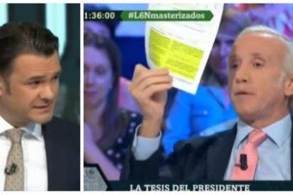 """Inda saca todos los plagios de la tesis de Sánchez y pone de los nervios a Iñaki López: """"¿Cuántas páginas te quedan?"""""""