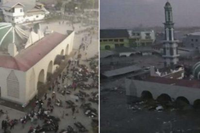 El antes y después del terremoto y tsunami en Indonesia