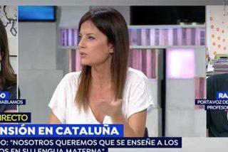 La presidenta de 'Hablamos Español' y Cristina Seguí le cierran la bocaza al adoctrinador de niños catalanes