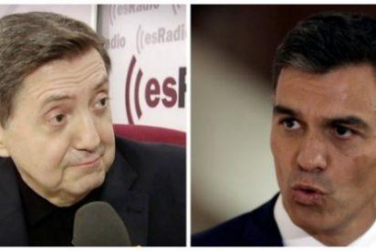 Losantos aterroriza a Sánchez recordando el turbio negocio sexual de su suegro