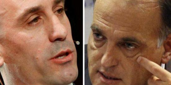 Bronca en Twitter entre Luis Rubiales y Javier Tebas por los horarios de la Liga